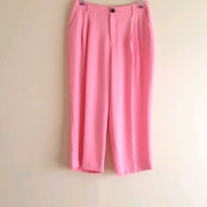 A Love A  Wide Leg Cropped Pleated Front Trouser